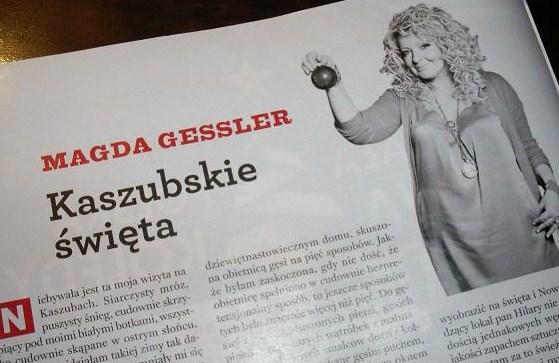 Fot. GK: Felieton kulinarny M.Gessler w Newsweeku