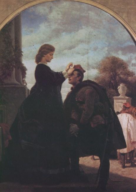 Artur Grottger, Pożegnanie powstańca, 1865 - 66
