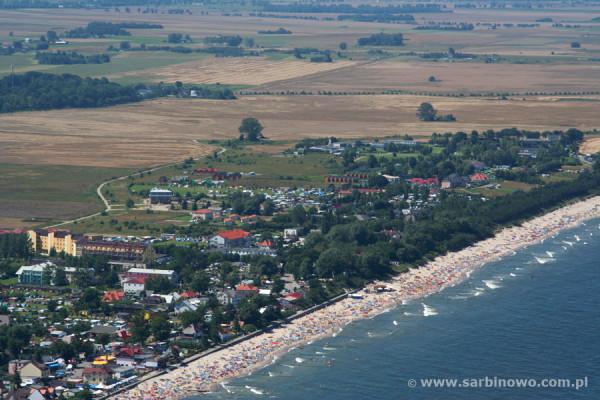 fot. Sarbinowo z lotu ptaka/sarbinowo.com.pl