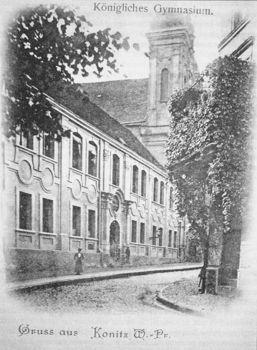 Budynek kolegium jezuickiego, następnie Katolickiego Gimnazjum w Chojnicach.