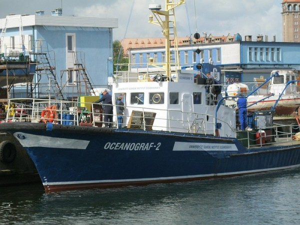 fot. Oceanograf-2 obecnie pływająca jednostka IO UG/ Instytut Oceanografii UG