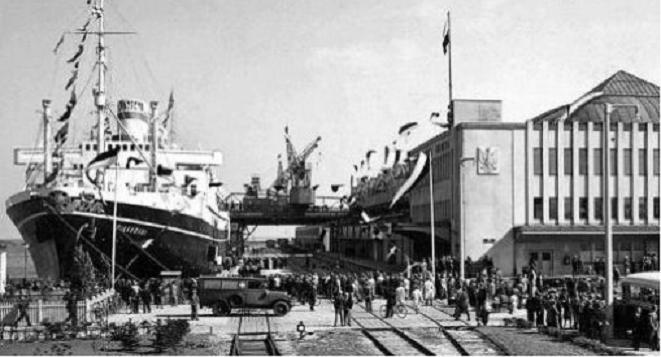 Fot. Archiwum:  Dworzec Morski przed 1938 rokiem.