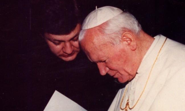 Abp Adamczyk z Janem Pawłem II