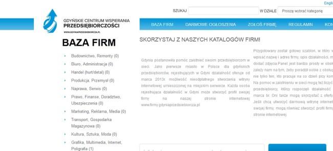 fot. Screen strony Gdynia Przedsiębiorcza