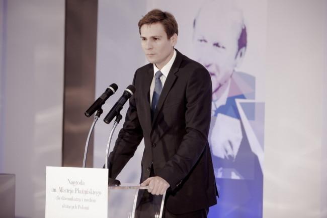 Przewodniczący Jury Jakub Płażyński - Uroczystość wręczenia Nagrody im. Macieja Płażyńskiego 2012, fot. Maksymilian Rigamonti / Press Club