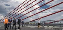 W piątek premier wraz z ministrem transportu Sławomirem Nowakiem otworzyli nowy most na Wiśle w Kwidzyniu. / fot. Maciej Śmiarowski