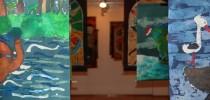Na zdjęciu batiki prezentowane podczas ostatniej wystawy w bytowskim muzeum / fot. materiał prasowy