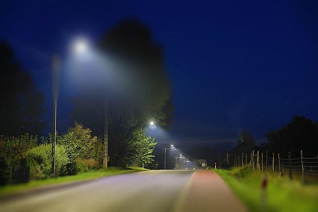 Energooszczędne oświetlenie uliczne LED w gminie Trzebielino. / fot. ENERGA Oświetlenie