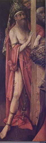 Postać półnagiego, skutego łańcuchami mężczyzny u wejścia do szopy, okrytego obszernym szkarłatnym płaszczem, z turbanem pokrytym cierniową koroną jest wyobrażeniem Antychrysta…osobowym wizerunkiem herezji. .