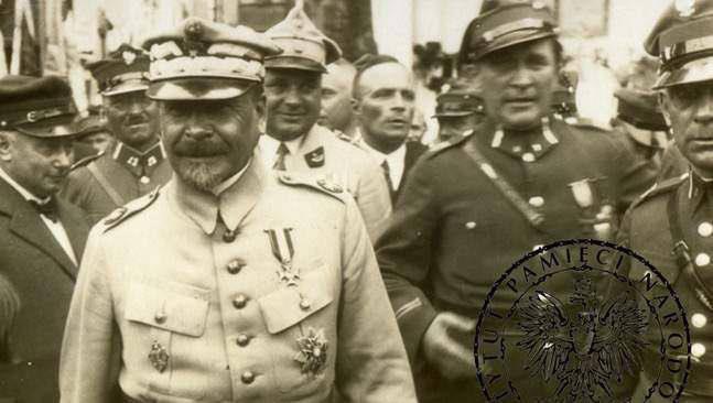 Generał Józef Haller i ks. ppłk Józef Wrycza – Kościerzyna 1920 r.