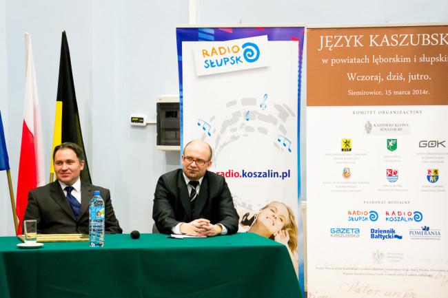 Od lewej autor tekstu oraz Paweł Żmuda, dyrektor GOK Główczyce. / fot. IB
