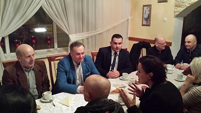 Spotkanie prezes Barbary Sadowskiej z przedstawicielami lokalnego biznesu.
