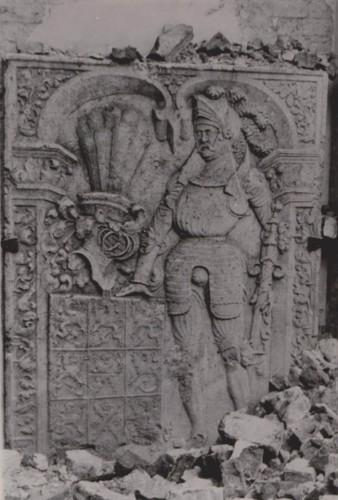 Płyta nagrobna fundatora klasztoru kartuzów w Grabowie Barnima III