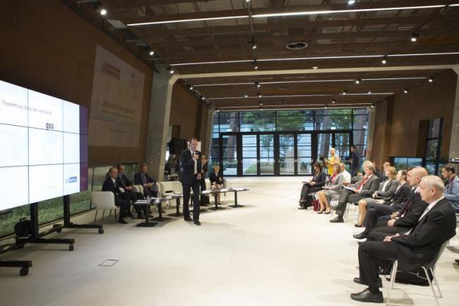 Gdańsk, ECS. Konferencja prasowa ThyssenKrupp, podczas której oficjalnie ogłoszono powstanie inwestycji z sektora usług wspólnych w Gdańsk. Data: 2014-10-10 13:12:44, Autor: Jerzy Pinkas / www.gdansk.pl