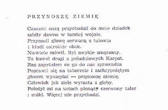 Zygmunt Flis Słupsk- Przynoszę Ziemię