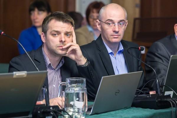 Marcin Dadel ( z lewej) / fot. facebook / Słupsk