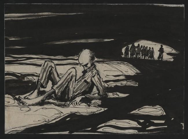 Grafika Józefa Łapińskiego / zbiory Muzeum Stutthof