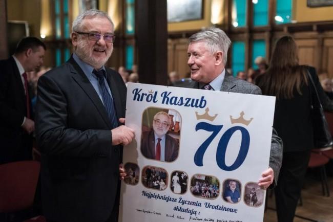 Gdańsk, Ratusz Staromiejski. Uroczystość 70. urodzin prof. Józefa Borzyszkowskiego. // Autor: Wojtek Jakubowski/www.gdansk.pl
