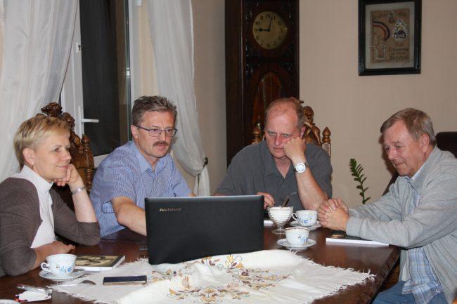 Od prawej: Wiesław Kawecki, Michael Bevan, Eugeniusz i Elżbieta Pryczkowscy