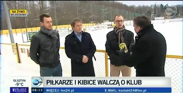 fot. Ogólnopolska telewizja przedstawia problem Gryfa/Gryf Wejherowo