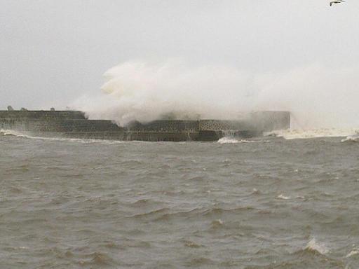 Fot. GK:  Dziesiejszy sztorm w Ustce