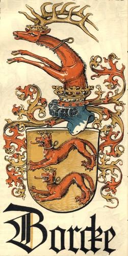 Stylizowany herb von Borcków.