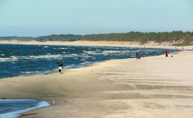 Plaża w Łebie. / fot. Łukasz Hrycyk
