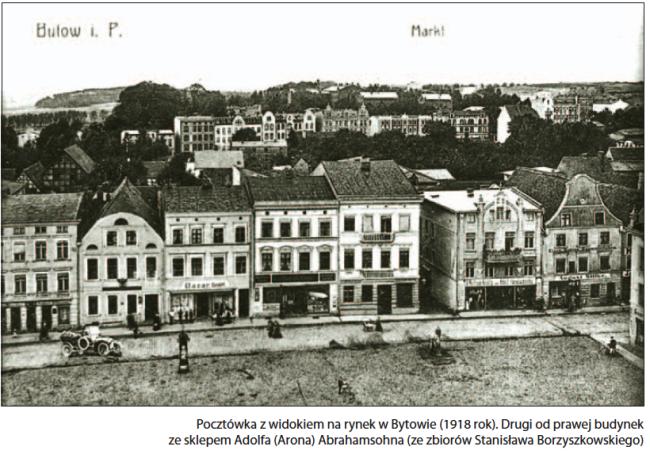 Bytowski Rynek – tu m.in. znajdowały się sklepy bytowskich Żydów