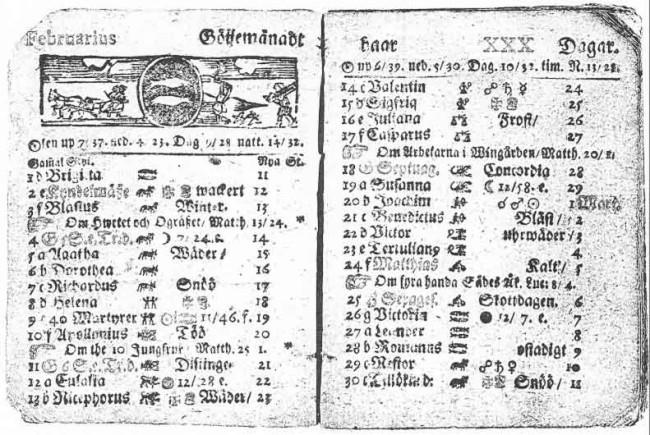30 lutego w kalendarzu z 1712 roku