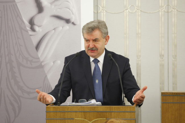 Senator Kazimierz Kleina - fot. Michał Józefaciuk / archiwum Senatu RP